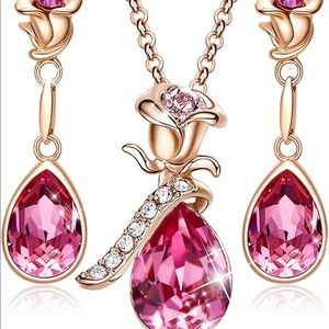 Jewelry - Necklace for Women 18K RoseGold Plated Jewelry Set